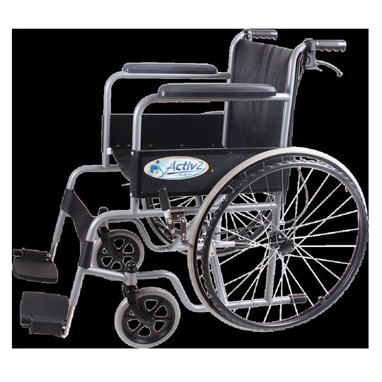 silla de ruedas con frenos